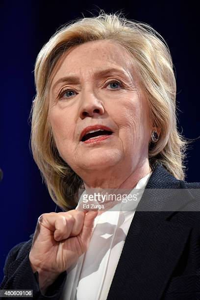 Democratic presidential candidate and former Secretary of State Hillary Clinton speaks at the National Council of La Raza conference on July 13 2015...