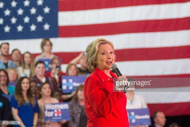 Democratic Presidential candidate and former Secretary of State Hillary Clinton speaks at a campaign rally at Truckee Meadows Community College on...