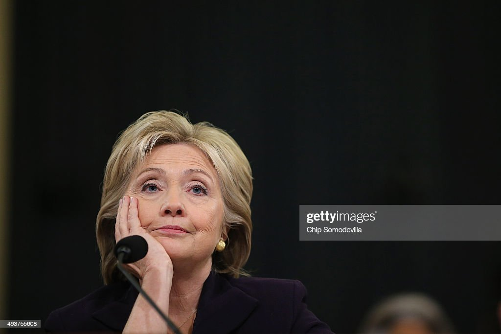 Hillary Clinton Testifies Before House Select Committee On Benghazi Attacks : News Photo