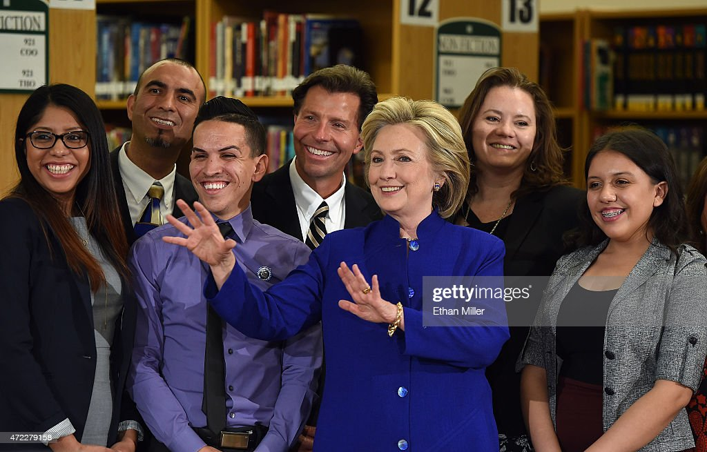 Hillary Clinton Holds Campaign Roundtable In Las Vegas : News Photo