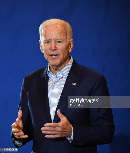 Democratic presidential candidate and former U.S. Vice President Joe Biden speaks at the International Union of Painters and Allied Trades District...