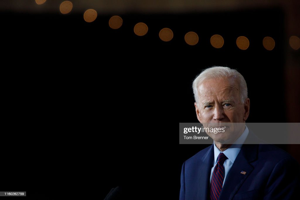 Democratic Presidential Candidate Joe Biden Speaks On White Nationalism In Iowa : ニュース写真