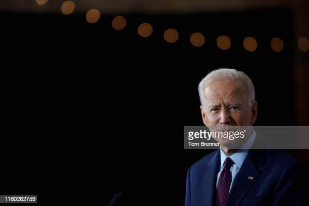 Democratic presidential candidate and former U.S. Vice President Joe Biden delivers remarks about White Nationalism during a campaign press...