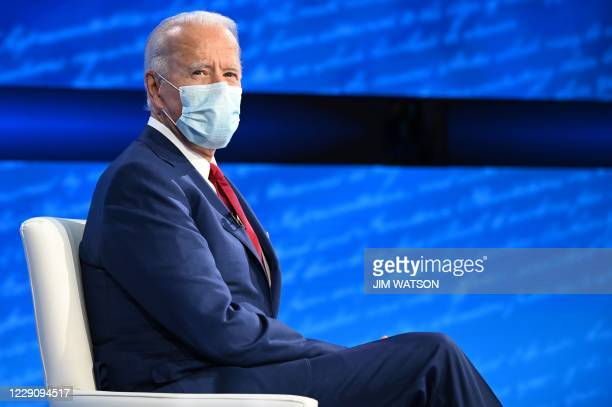 Democratic Presidential candidate and former US Vice President Joe Biden participates in an ABC News town hall event at the National Constitution...