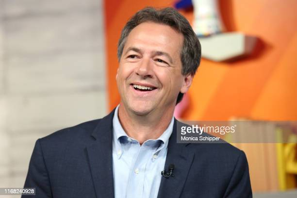 """Democratic presidential candidate and Governor of Montana Steve Bullock at BuzzFeed's """"AM to DM"""" on August 15, 2019 in New York City."""