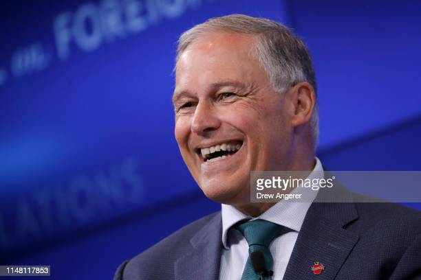 Democratic presidential candidate and Governor of Washington Jay Inslee speaks about climate change at the Council on Foreign Relations June 5 2019...
