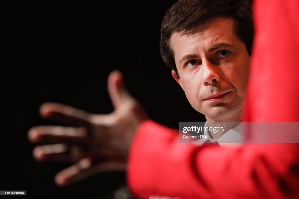 NY: Democratic Presidential Candidate And South Bend, Indiana Mayor Pete Buttigieg Speaks At LaGuardia Community
