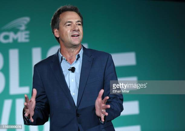 Democratic presidential candidate and Montana Gov. Steve Bullock speaks during the 2020 Public Service Forum hosted by the American Federation of...