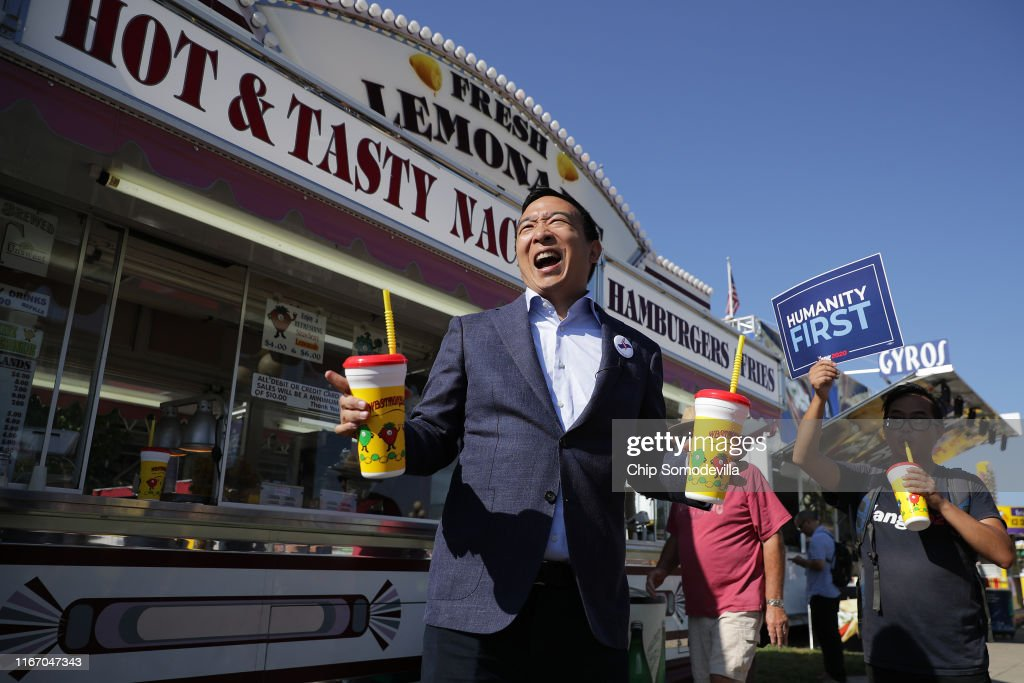 Presidential Candidates Hit The Soapbox At The Iowa State Fair : News Photo