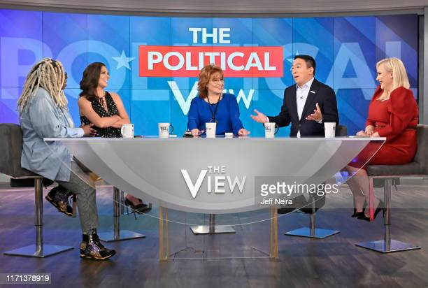 """Democratic presidential candidate Andrew Yang is a guest today on ABC """"The View."""" """"The View"""" airs Monday-Friday 11am-12 noon, ET on ABC. VW19 WHOOPI..."""