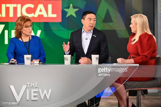 """Democratic presidential candidate Andrew Yang is a guest today on ABC """"The View."""" """"The View"""" airs Monday-Friday 11am-12 noon, ET on ABC. VW19 JOY..."""