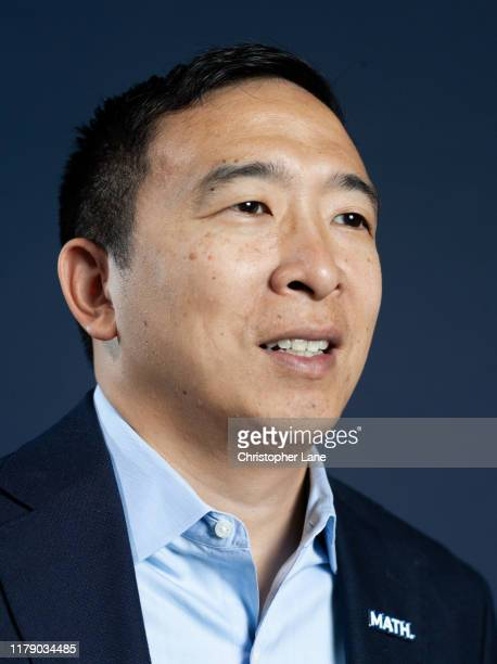 Democratic presidential candidate Andrew Yang is photographed for Newsweek Magazine on October 17 2019 in New York City