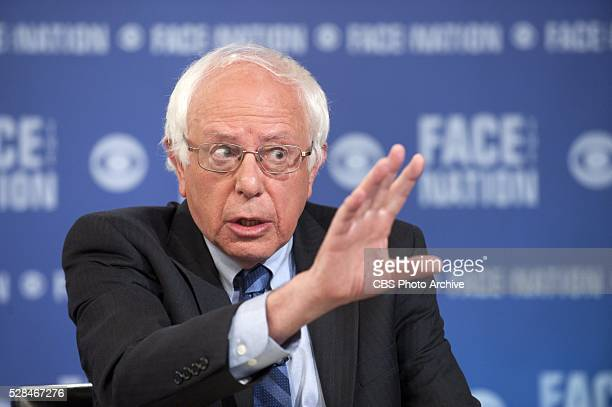 Democratic presidential candidate Bernie Sanders appears live on FACE THE NATION on May 1 in Washington D C��
