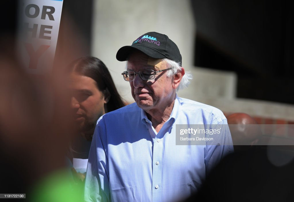 CA: Democratic Presidential Candidate Bernie Sanders Attends Communication Workers Union Rally At UCLA