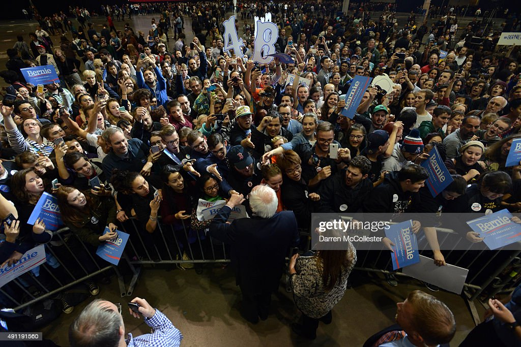 Democratic Presidential Candidate Bernie Sanders Holds Rally At Boston Convention Center : News Photo
