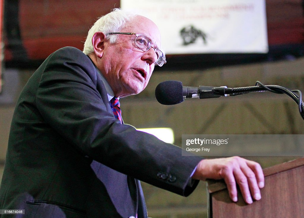 Bernie Sanders Campaigns In Salt Lake City One Day Before Utah Primary : News Photo