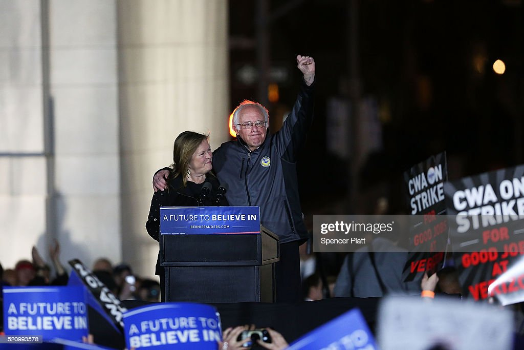 Bernie Sanders Holds Rally In New York's Washington Square Park