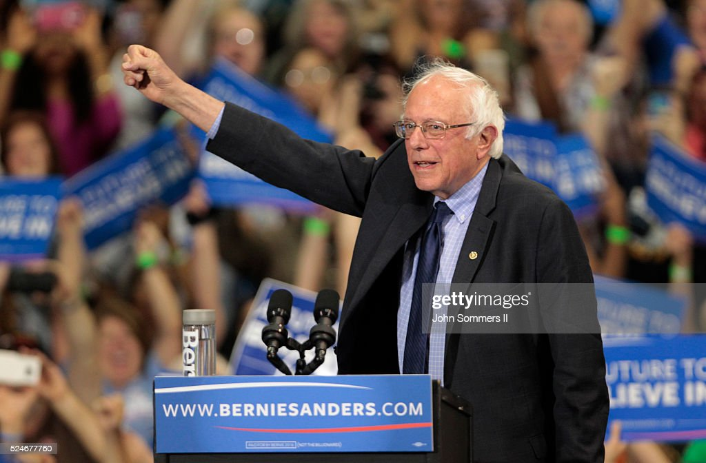 Bernie Sanders Holds Election Night Rally In West Virginia : News Photo