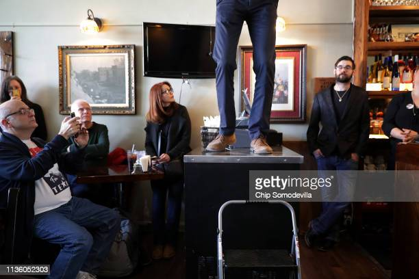 Democratic presidential candidate Beto O'Rourke answers questions from voters during his second day of campaigning for the 2020 nomination at The...
