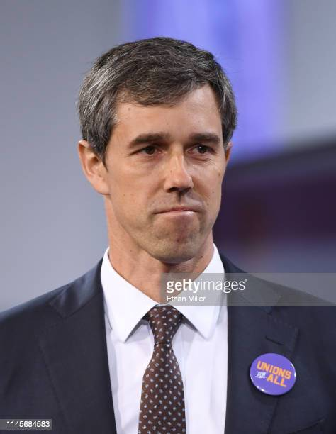 Democratic presidential candidate Beto O'Rourke arrives at the National Forum on Wages and Working People Creating an Economy That Works for All at...