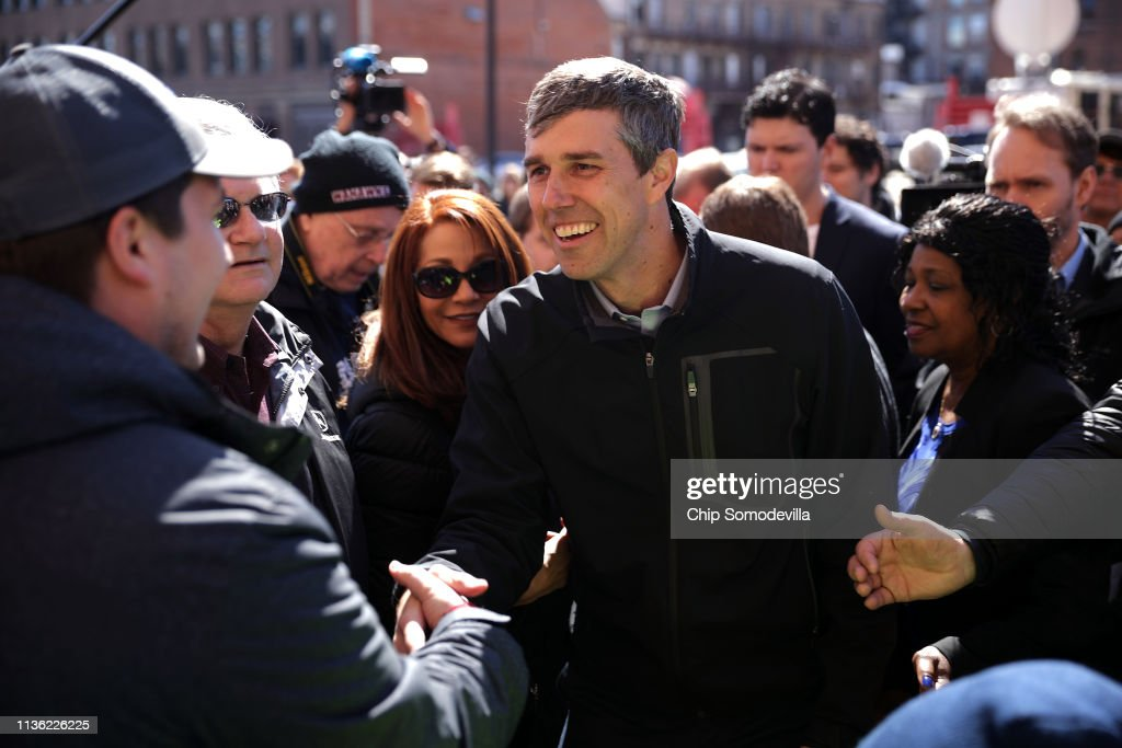 Beto O'Rourke Begins First Campaign Swing In Iowa As A Presidential Candidate : News Photo