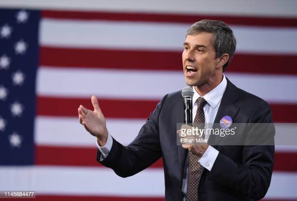 Democratic presidential candidate Beto O'Rourke speaks at the National Forum on Wages and Working People Creating an Economy That Works for All at...