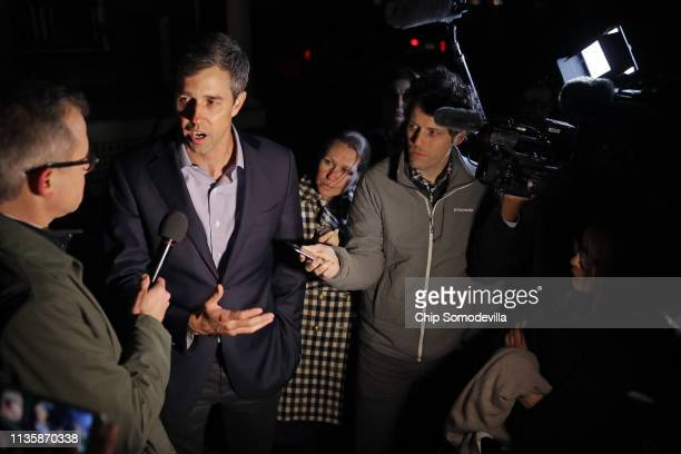 Democratic presidential candidate Beto O'Rourke talks with CNN's Jeff Zeleny during O'Rourke's first day of campaigning for the 2020 nomination at...