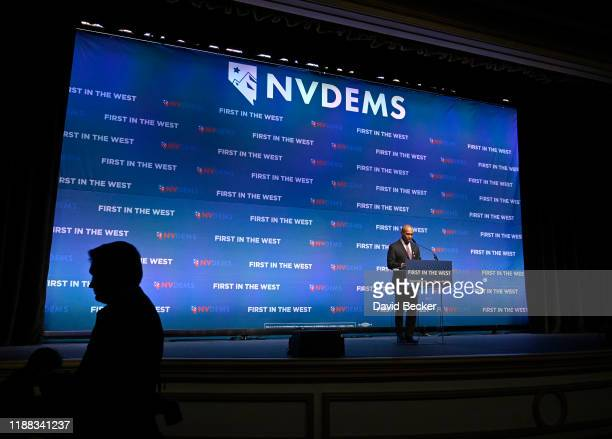 Democratic presidential candidate Deval Patrick speaks during the Nevada Democratic's First in the West event at Bellagio Resort Casino on November...