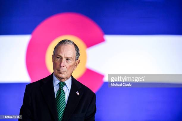 Democratic presidential candidate, former New York City Mayor Michael Bloomberg waits to speak at an event to introduce his gun safety policy agenda...