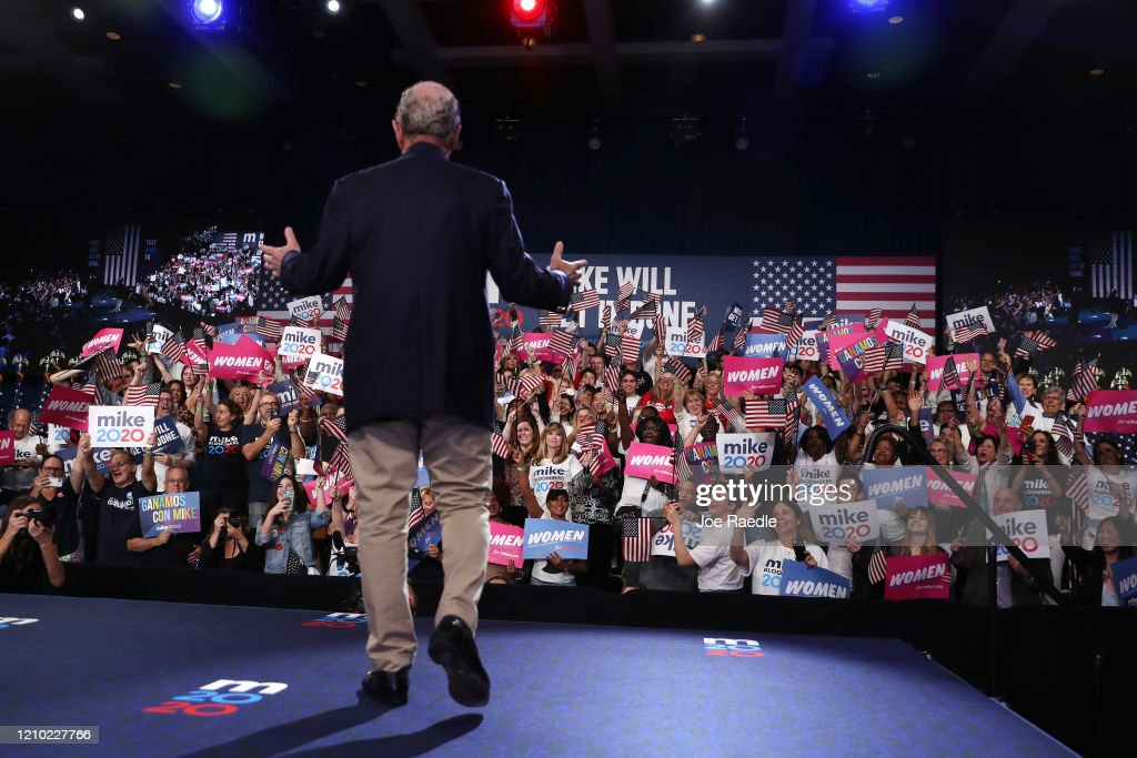 Presidential Candidate Mike Bloomberg Holds Super Tuesday Event In West Palm Beach, FL : News Photo