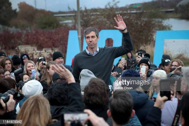 Democratic presidential candidate former Rep Beto O'Rourke addresses his supporters after announcing he was dropping out of the presidential race...