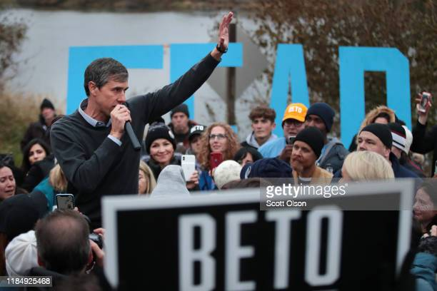 Democratic presidential candidate, former Rep. Beto O'Rourke addresses his supporters after announcing he was dropping out of the presidential race...