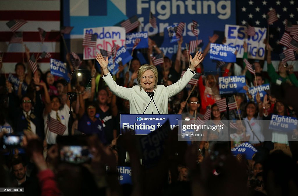 Hillary Clinton Holds Super Tuesday Night Event In Miami