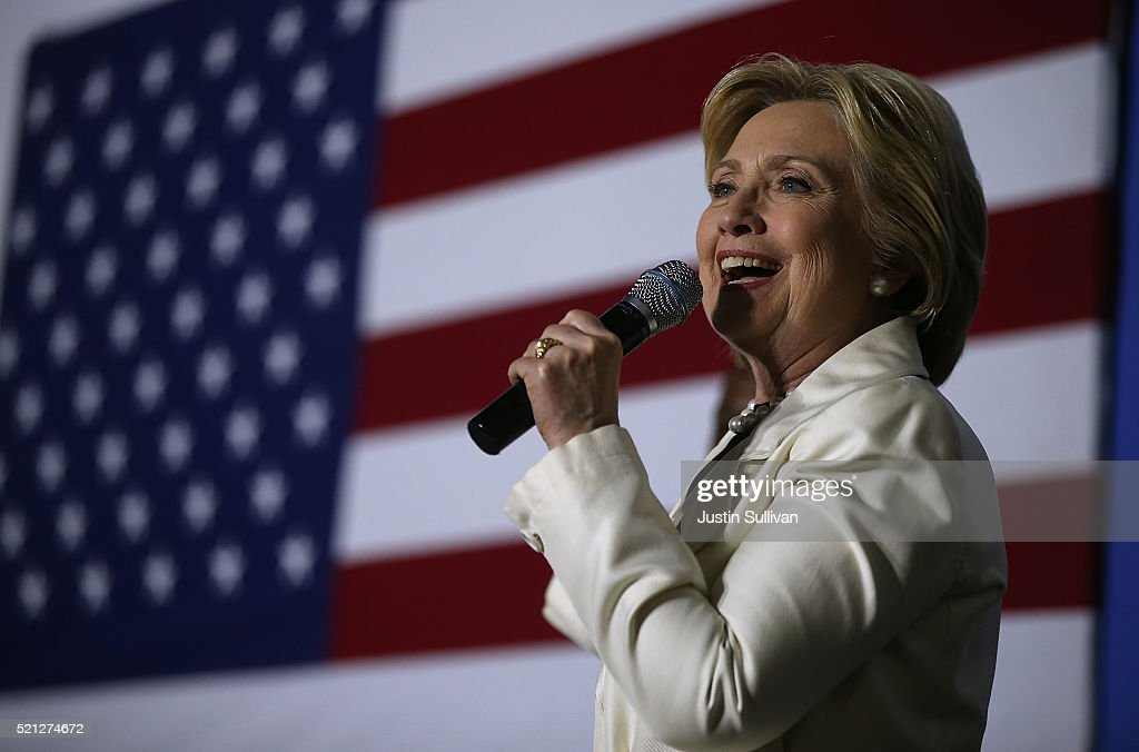 Hillary Clinton Campaigns In New York Ahead Of State Primary : News Photo