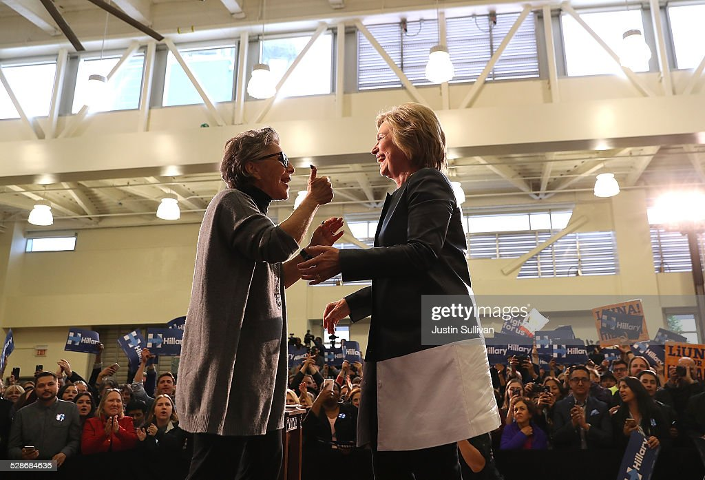 Hillary Clinton Campaigns In Oakland, CA