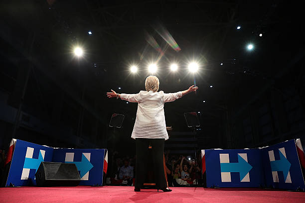 Hillary Clinton Holds Primary Night Event In Brooklyn, New York