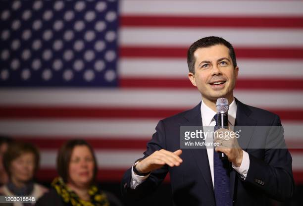 Democratic presidential candidate former South Bend, Indiana Mayor Pete Buttigieg speaks at a meet the candidate event at January 30, 2020 in...