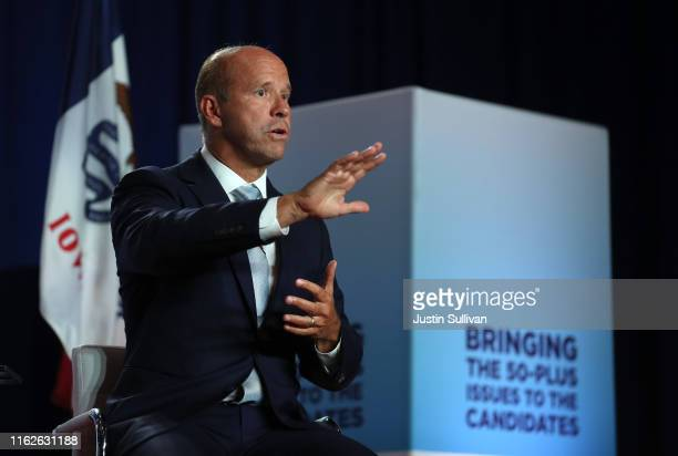 Democratic presidential candidate former U.S. Rep. John Delaney speaks during the AARP and The Des Moines Register Iowa Presidential Candidate Forum...