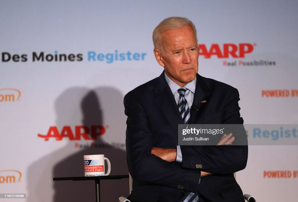 Democratic Presidential Hopefuls Attend AARP Candidate Forums In Iowa : News Photo