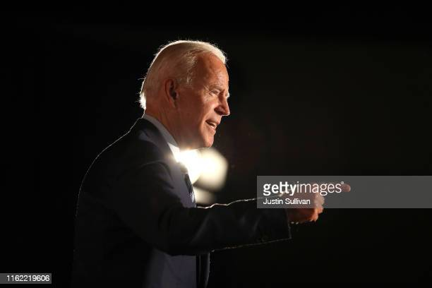 Democratic presidential candidate former U.S. Vice President Joe Biden speaks during the AARP and The Des Moines Register Iowa Presidential Candidate...