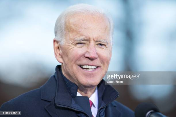 Democratic presidential candidate former vice President Joe Biden speaks during a rally after he signed his official paperwork for the New Hampshire...