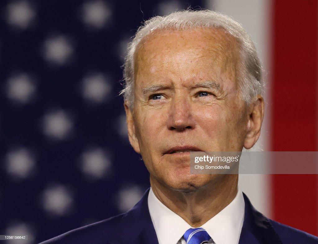 "Democratic Presidential Candidate Joe Biden Speaks On His ""Build Back Better"" Clean Energy Economic Plan : News Photo"