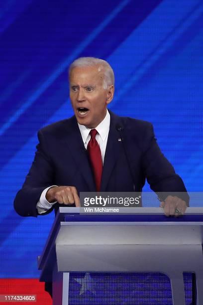 Democratic presidential candidate former Vice President Joe Biden speaks during the Democratic Presidential Debate at Texas Southern University's...