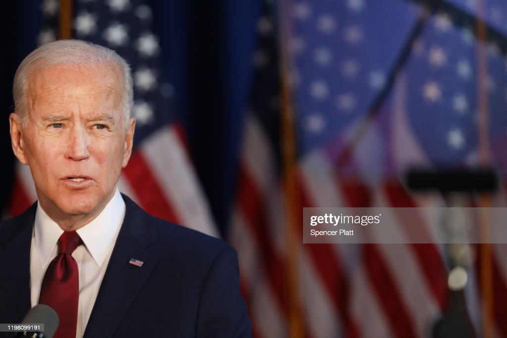 Presidential Candidate Joe Biden Delivers Foreign Policy Statement In New York : News Photo