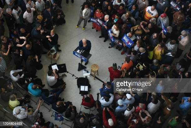 Democratic presidential candidate former Vice President Joe Biden speaks to supporters at a campaign event on March 2 2020 in Houston Texas...