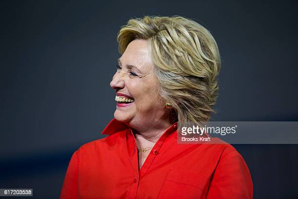 Democratic Presidential candidate Hillary Clinton and her running mate Tim Kaine hold a campaign rally July 30 2016 in Pittsburgh PA