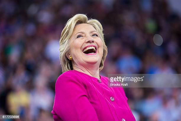 Democratic Presidential candidate Hillary Clinton appears at a campaign rally July 29 2016 in Philadelphia MA
