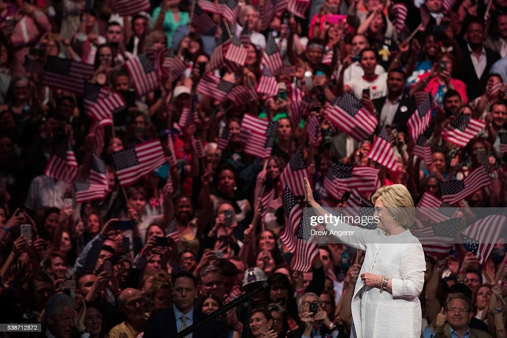 Hillary Clinton Holds Primary Night Event In Brooklyn, New York : News Photo