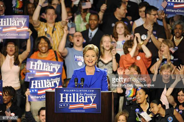 Democratic presidential candidate Hillary Clinton attends an event entitled 'Election Night Celebration With Hillary' at Baruch College in Manhattan