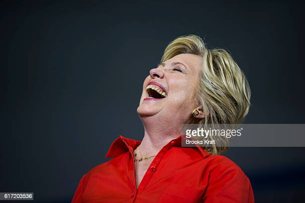 Democratic Presidential candidate Hillary Clinton during a campaign rally July 30 2016 in Youngstown OH